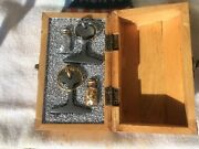 Vintage Mining Rail1881keychains W/gold And Silver Flakes In Wooden Box🇺🇸