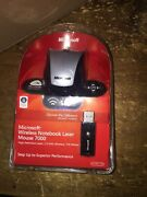 Microsoft Wireless Notebook Laser Mouse 7000 With Receiver Mac / Windows Pc Usb