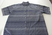 Bassiri Uomo Psychedelic Button Up Camp Shirt Xl Extra Large