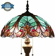 Floor Lamp Light Stained Glass Antique Vintage Living Room Bedroom Style