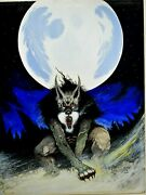 Randy Broecker Painting Book Cover Black Wolf + Copy Of The Hb Book