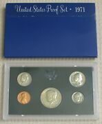 1971 Us Mint Proof Set 5 Coins In Original Box Original Owner Selling Collection