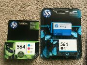 Hp 564 Printer Ink Combo Pack, Black And Blue
