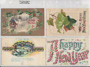 Vintage Holiday Postcards Early 1900's Era 4 Diff. New Years - See Scans
