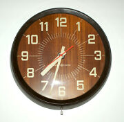 Vintage 1960and039s Ge General Electric Ge Wall Clock 14andrdquo Model 2012 Unique