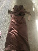 Two Piece Chocolate Brown Prom/bridesmaid/formal Dress, Size 16