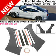 For 15-18 Ford Mustang Gt350   Style Fender Vent Scoops Side Panel Trim Guards