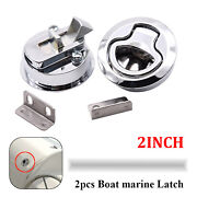 2pcs Marine Boat Stainless Steel 2and039and039 50mm Flush Pull Hatch Lock Slam Latch Lift