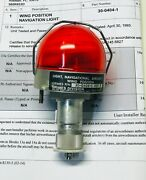 P/n 30-0404-1 Aircraft Wing Navigational Light - Honeywell Grimes With 8130-3