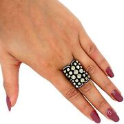Pave 7.65ct Real Diamond Ring .925 Sterling Silver Vintage Look Handmade Jewelry