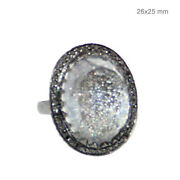 Diamond Pave 925 Sterling Silver Promise Ring 14 K Gold Crystal Fine Jewelry Oy