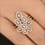 Solid 18k Rose Gold Pave Natural Diamond Designer Ring Fine Jewelry New Arrivals
