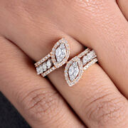 Solid 18 K Rose Gold Pave Natural Diamond Wrap Ring Fine Jewelry New Collection