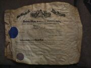 Presidential Autographs Psa/dna Cert Woodrow Wilson Signed New Jersey Governor
