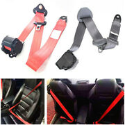 3 Point Vehicle Seat Belt Red Fully Adjustable Hardware W/ Quick Release Camlock