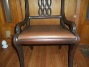 Antique Wooden Chairs. Set Of4 Matching Chairs.cleaned Need Polishing.