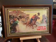 1950's Goetz Country Club Pony Express Framed Ad Watch Video