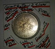 1922 Great Britain Silver Florin = 2 Shilling Cat.km817a G/vg Coin @ Melt+10