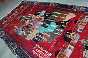 Stunning Vintage Afghanistan Map Wall Hanging Carpetawesome Very Fine Quality