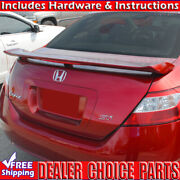 2006-2011 Honda Civic Si 2dr Factory Style Spoiler Trunk Wing W/led Unpainted