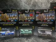 3 Illinois Police Cars 1948 Ford State Police/1960 Plymouth Chicago P.d./harwood