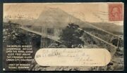 1930 Worldand039s Highest Suspension Bridge Canon City Colorado All-over 2andcent Tied