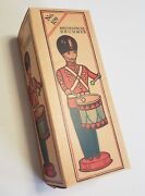 J. Chein Mechanical Drummer Empty Box For Tin Wind Up 109 Drum Major Like Marx