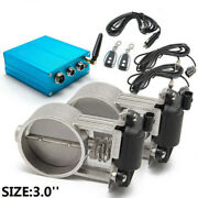 3 Dual Exhaust Valve With Electric Control Box For Exhaust Catback Downpipe