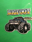 Vintage Ford Bigfoot Monster Truck 4x4x4 Truck Iron On Patch 1980and039s Pickup 3x3