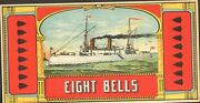 Vintage Tobacco Crate Shipping Labels Circa 1880s/90s Eight Bells Tobacco-----9