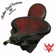 Harley Touring Spring Seat Conversion Mounting Kit 1998-2020 Red T Leather Bcs