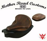 2014-21 Indian Chief Spring Seat Mounting Conversion Kit Pad Brn Dist Leather Bs