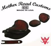2014-21 Indian Chief Spring Seat Mounting Kit Pad Back Rest Bib Ant Red Oak L Bs