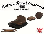 2014-21 Indian Chief Brown Distres Spring Seat Mounting Kit Pad Back Rest Bib Bs