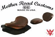 2014-21 Indian Chief Bomber Brown Spring Seat Mounting Kit Pad Back Rest Bib Bs