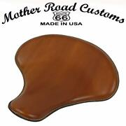 Spring Solo Tractor Seat Harley Sportster Indian Scout 15x14 Desert Tan Leather