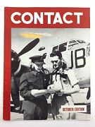 Contact October Issue Wwii World War 2 Comics Photos Letters Magazine N124
