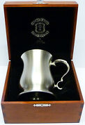 Crown And Rose Bell One Pint Heavy Cast Pewter Tankard In Wooden Gift Box