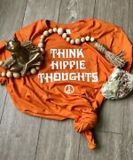 Think Hippie Thoughts T Shirt - Peace Out - S - 4x - Bella/canvas Brand