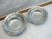 Large And Small Wilton Armetale Queen Anne Pewter Serving Veggie Bowl Shiny Finish