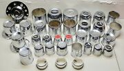 Nos Wheel Center Cap Push Thru Hub Bolt-on Adapters See Pics - Lot Of 34 Pieces