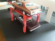 124 125 Scale 4 Post Model Car Lift For Garage Diorama 1/24 And 1/25 Scale