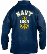 Uss Jimmy Carter Ssn-23 Coaches Embroidered Andvinyl Lightweight 2-sided Jacket