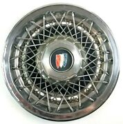 Buick Wire Spokes Vintage Hubcap 16.5 In Chrome Old Hub Cap Wheel Cover Decor