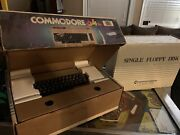 Commodore 64 Keyboard Computer System Console Floppy Drive Monitor And Disks