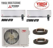 Ymgi 21000 Btu Two Zone Ductless Mini Split Air Conditioner Heat Pump For Office