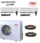 Ymgi 42000 Btu Two Zone Ductless Mini Split Air Conditioner With Heat Pump Jh45