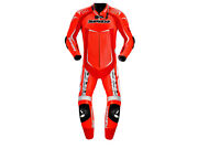Spidi Track Wind Replica Evo Motorcycle Racing Leather Suit Red/white