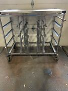 Metro Stainless Steel Rolling Medical Tray And Case Cart Sterile Processing
