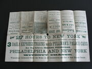 1870 Pittsburgh Fort Wayne And Chicago Railway And Penn Central Timetable And Map
